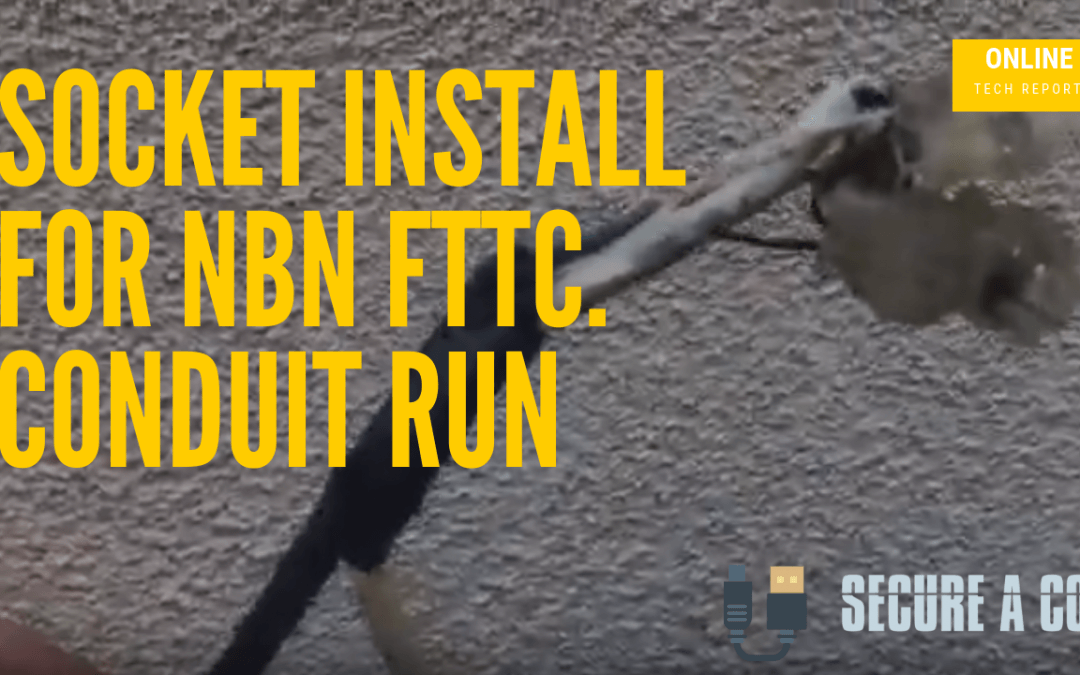 Locating and Extending Lead-in Cable and install a socket for NBN FTTC Sydney