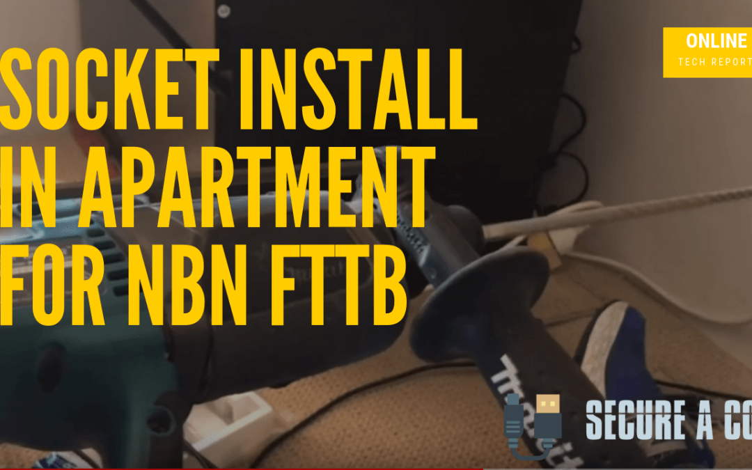Relocating Socket For NBN FTTB Inside an Apartment